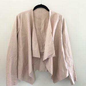 Zara Light Pink Leather Jacket